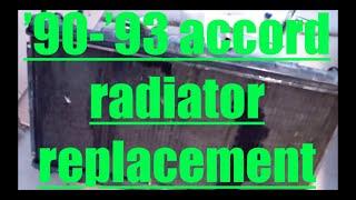 DIY How to replace install radiator Honda Accord √