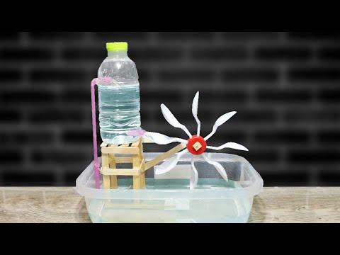 DIY กังหันน้ำ ไม่ใช้ไฟฟ้า | How to Make Waterwheel