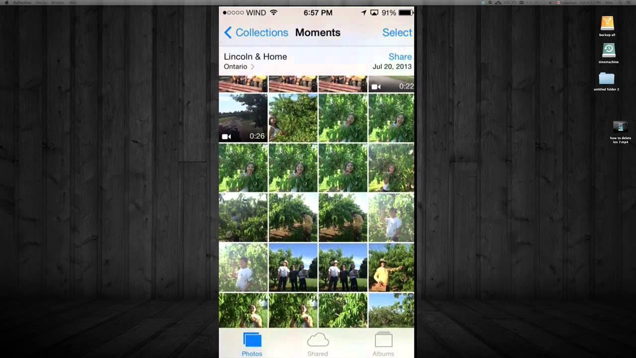 Como Borrar fotos en iPhone iPod ipad
