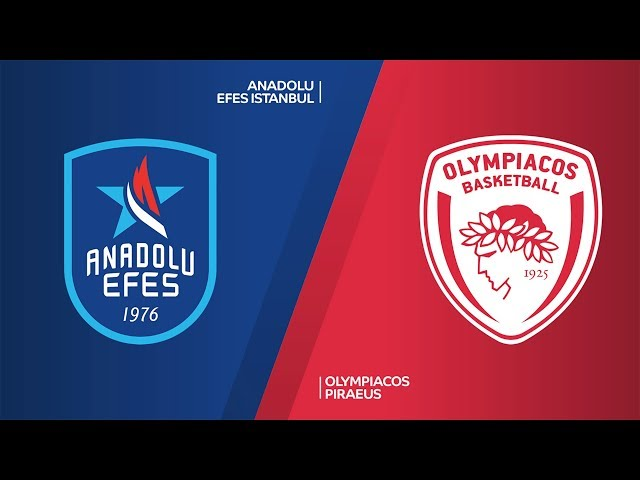 Anadolu Efes Istanbul - Olympiacos Piraeus Highlights | EuroLeague, RS Round 28
