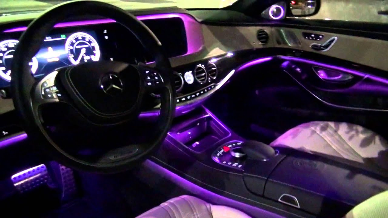 2014 mercedes benz s63 amg amazing interior lighting youtube. Black Bedroom Furniture Sets. Home Design Ideas