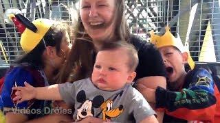 Top drôles des enfants avec personnages Disney compilation