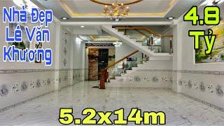 Bán nhà quận 12 TPHCM |Nhà đẹp 5.2x14m cực kỳ rộng rãi và thoáng | giá rẻ 4.8 tỷ