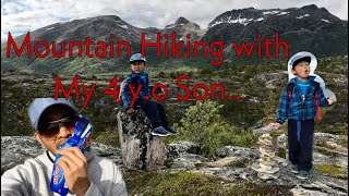 Mountain Hiking W/ Chris Enrick | Fjelltur | Pappa Enrique | Senja Norway