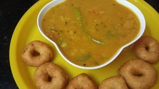 tiffin sambar recipe in tamil idli dosa pongal with toor dal onion tomato tamarind garlic