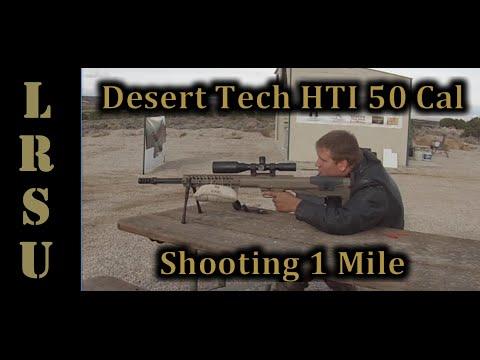50 cal vs Milk Jug at 1 Mile in just 5 Shots! - Desert Tech HTI