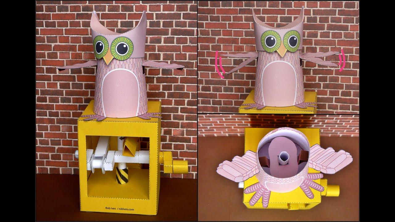Papercraft Owl, paper model