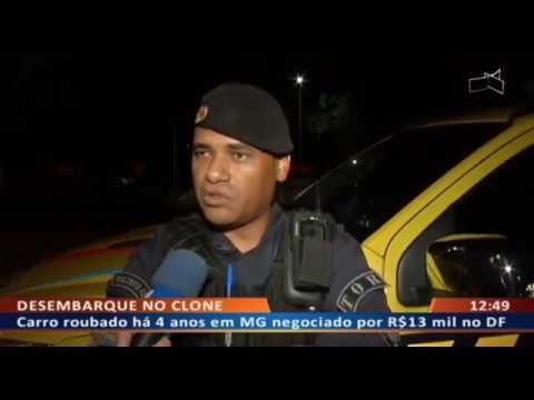 DF ALERTA - Bandido tenta escapar da PM com carro roubado e clonado