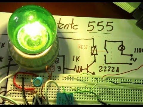 Encender Bombilla 110Vac con Rele y 555