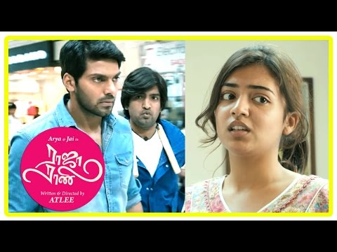 Raja Rani Tamil Movie Scenes | Nazriya intro | Arya falls for Nazriya | Santhanam