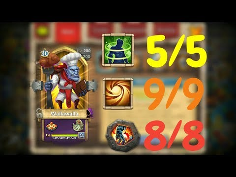 Wallawalla L 5/5 Holy Conviction L 30BT In Action L Castle Clash