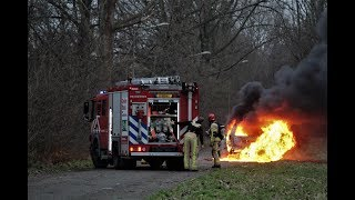 Flinke brand verwoest auto in Amstelveen