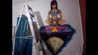 Pintando mi cuarto.