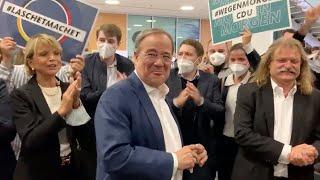 Sprechchöre und fehlende Masken: CDU-Feier nach Triell mit Uschi Glas in der Kritik