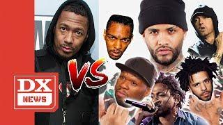 Joyner Lucas Pulls 50 Cent J Cole Kendrick Lamar King Los amp More Into Eminem amp Nick Cannon Beef