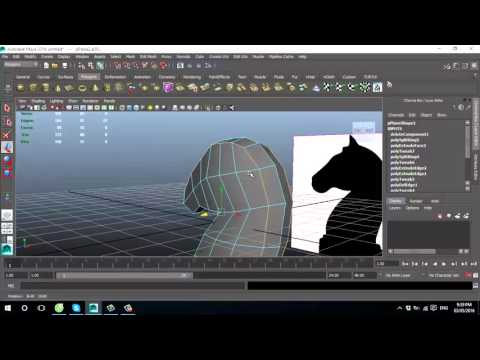How to model Knight of Chess in Maya