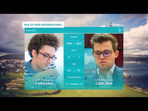 Chess.com Isle of Man International: Round 8 | Caruana Vs Carlsen