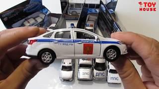 Про машинки. Открываю очень много разных полицейских машинок моделек. Распаковка и обзор.