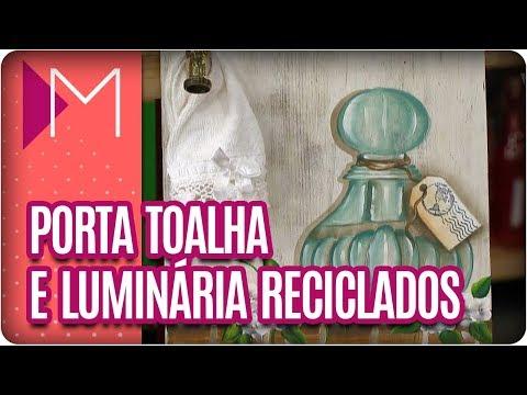 Porta toalha e luminária recicladas - Mulheres (29/03/18)