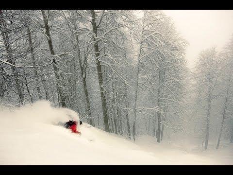 Freeride Skiing Russia - Deep Snow in Krasnaya Polyana