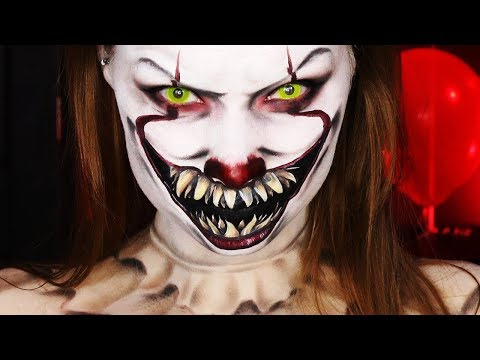 'IT' PENNYWISE HALLOWEEN MAKEUP TUTORIAL