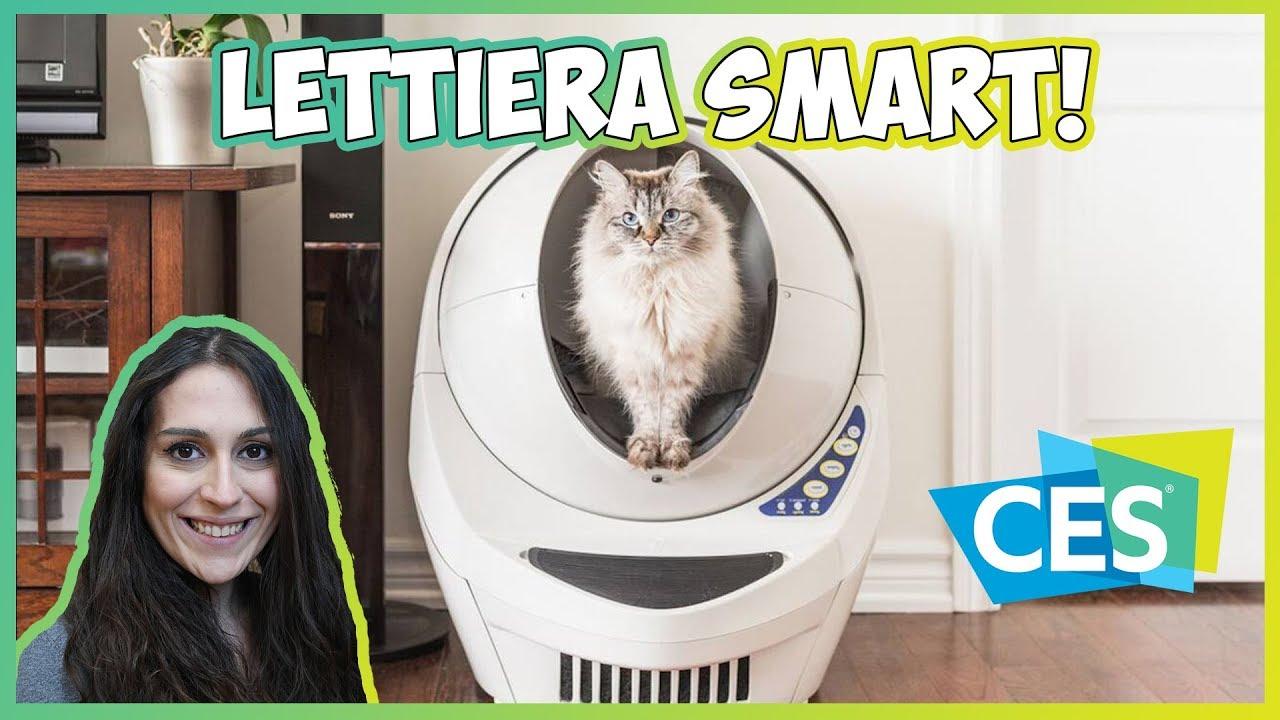 Litter Robot La Lettiera Smart Per Gatti Ces 2018 Youtube