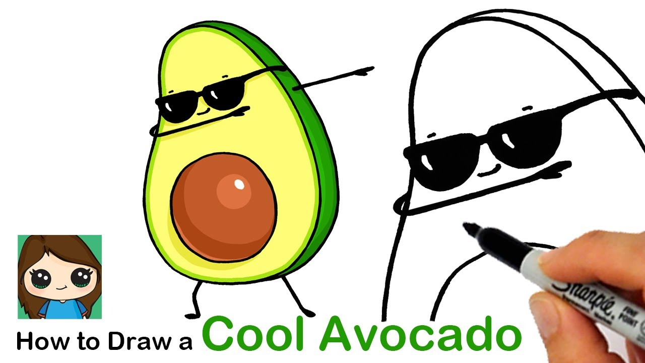 How to Draw a Cool Avocado Dabbing - YouTube