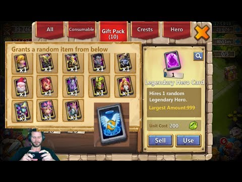 JT's Free 2 Play FREE Legendary Hero Card + Talent Roll Castle Clash