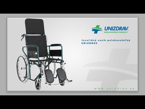 Invalidný vozík polohovateľný UNIZDRAV - VIDEOMANUÁL