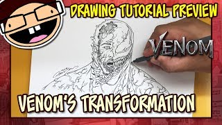 [PREVIEW] How to Draw VENOM'S TRANSFORMATION (Venom 2018) | Tutorial Time Lapse