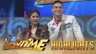 "It's Showtime: Ronnie Alonte and Loisa Andalio take on the ""Taga Saan Ka?"" challenge."