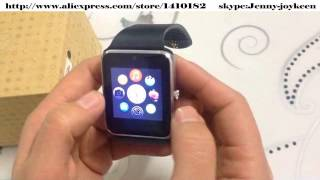 2015 fashion GT08 Smart watches work with Android System VS Apple iWatch
