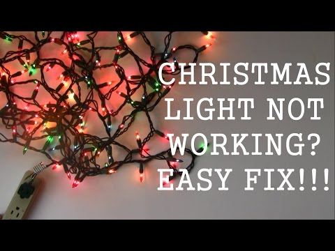 Light String Hack/ Fix or repair Christmas light strings w/ dead ...