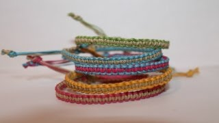 Two-Colored Square Knot Friendship Bracelet Tutorial