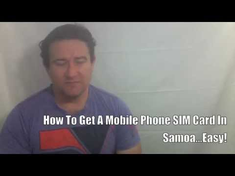 How To Get A Mobile Phone SIM CARD In Samoa ... EASY!