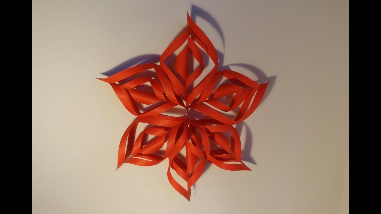 Ozdoby świąteczne Gwiazda 3d Z Papieru