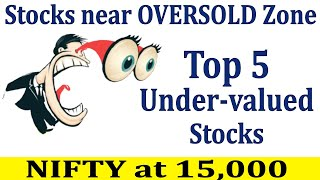 Top 5 Stocks iฑ Oversold Zone or at Crucial Support| Under valued Stocks to Buy even if NIFTY@15,000