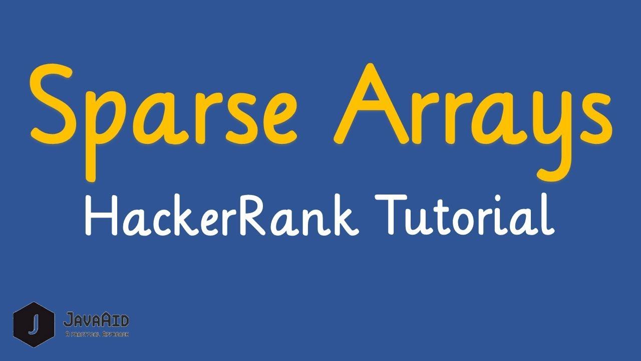 Sparse Arrays HackerRank Solution[Optimized Approach]