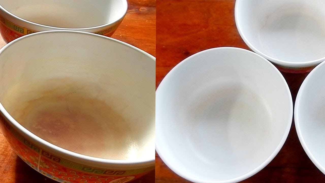 Cleaning Plastic Dishes Specks From Tomato Sauce Or Other Acidic Foods