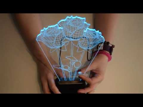 EchoAcc® Rose 3D Glow LED Lamp, Amazing gift, ideal Teachers gift or for someone special