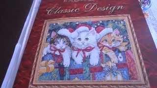 ВЫШИВКА КРЕСТИКОМ.Первое видео,часть2.Новогодние котята,подготовка