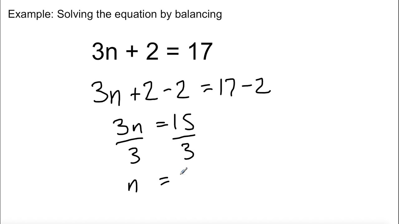medium resolution of Grade 8 Math - Lesson 8.5: Solving Equations - YouTube