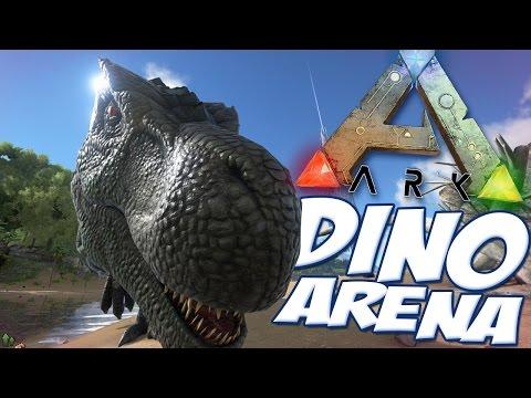 Ark Survival Evolved Gameplay - Dino Arena V2 - All Guns, All Dinosaurs - Mod Spotlight