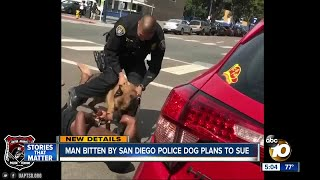 Man bitten by police dog plans to sue