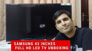 Samsung 108cm 43 inches Full HD Led TV UA43N5010ARXXL Black Unboxing