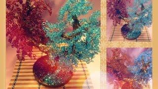 Дерево инь янь из бисера