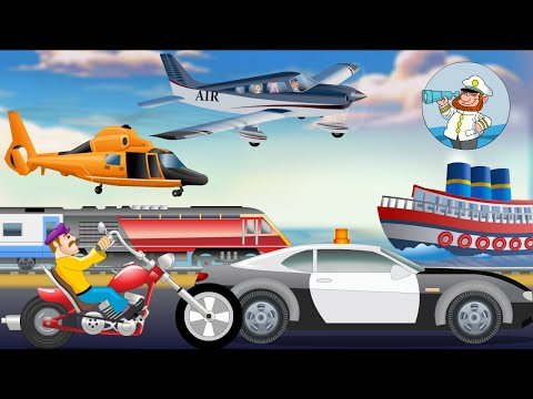Modes of Transport for kids | Learn Transport Vehicles | Nursery Rhymes For Children
