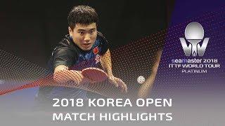 Liang Jingkun vs Lim Jonghoon | 2018 Korea Open Highlights (1/4)
