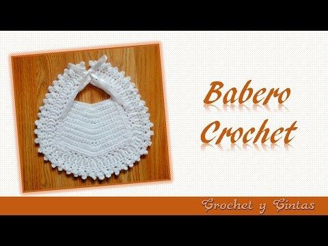 Babero para beb�s tejido a crochet Babero para ocasiones especiales