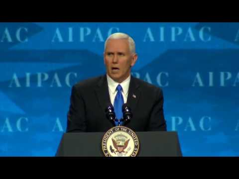 Pence vows US loyalty to Israel during AIPAC speech (credit: REUTERS)